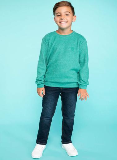 DeFacto Basic Sweatshirt Yeşil